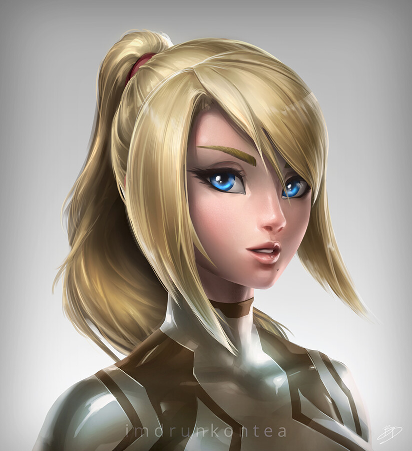 Brandon dunn zs samus portrait bronze final web