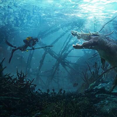Jakub skop underwater