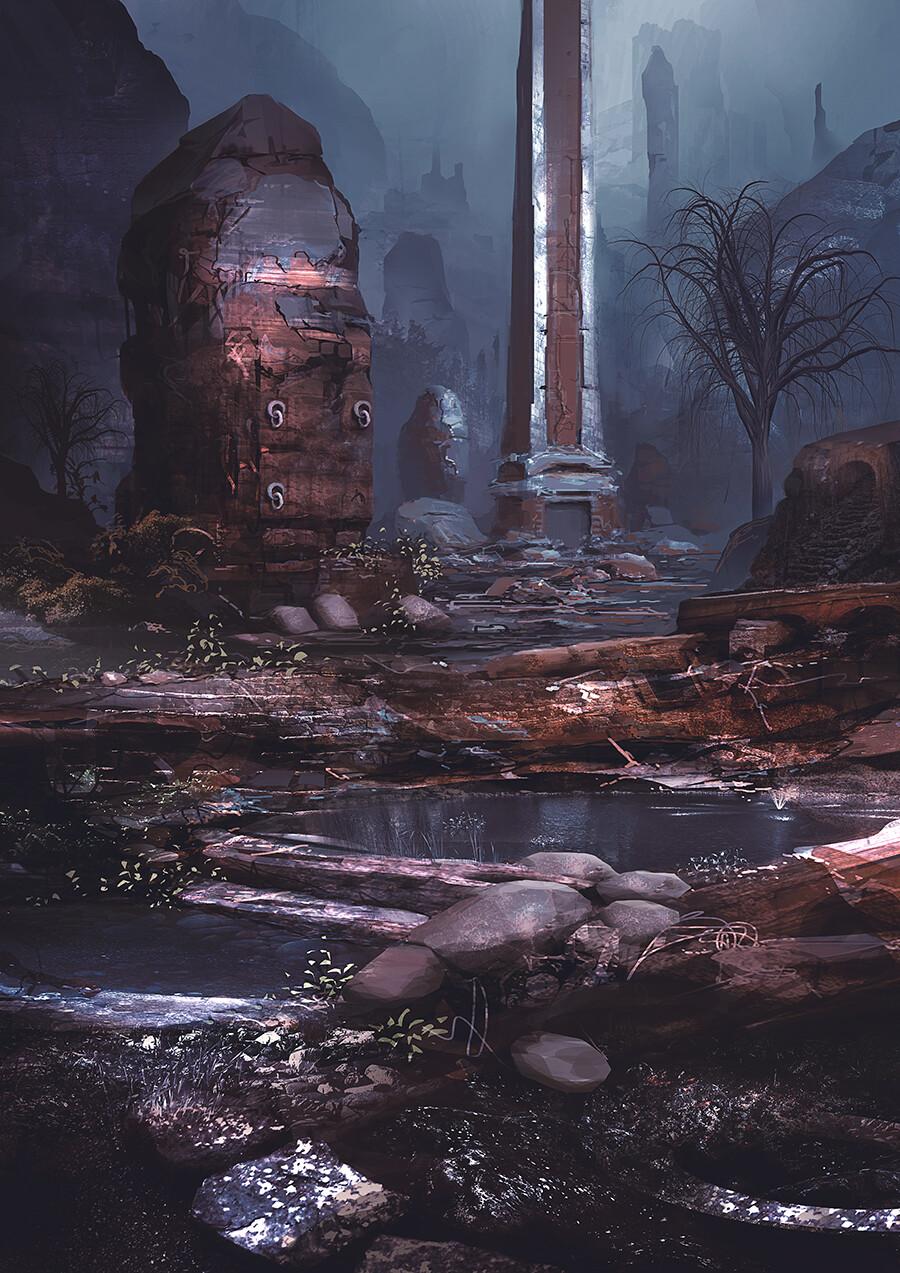 James ledger artstat scenery