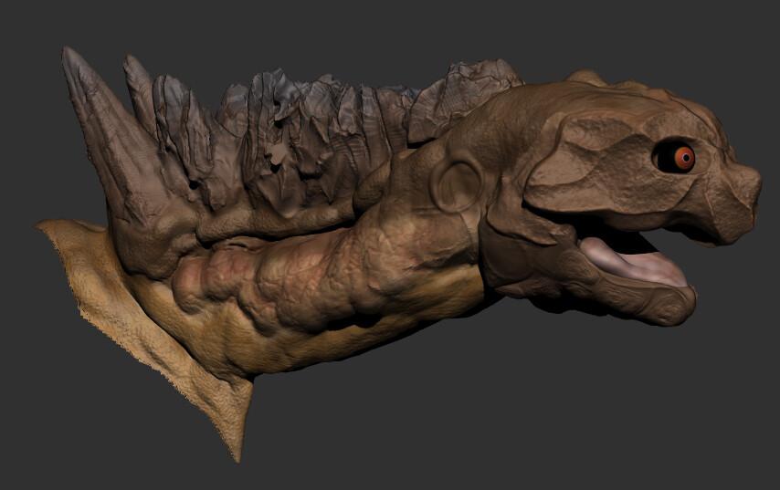 ArtStation - Highland Worm Creature Game Asset, Logan Sinnett