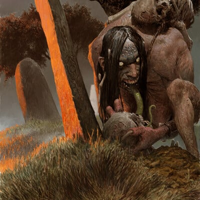 Adrian smith card art 11 grave hag