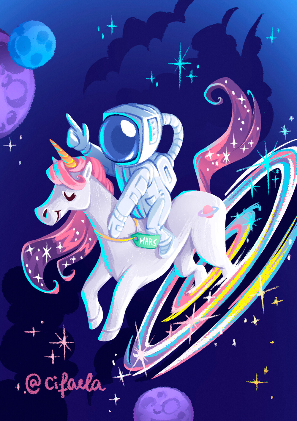 Fabiola monteiro unicorn astronaut space 1