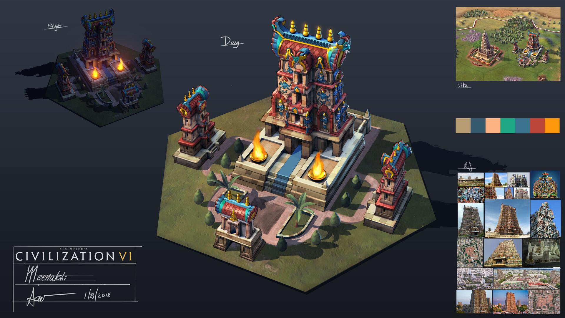 Samuel aaron whitehex meenakshi temple concept