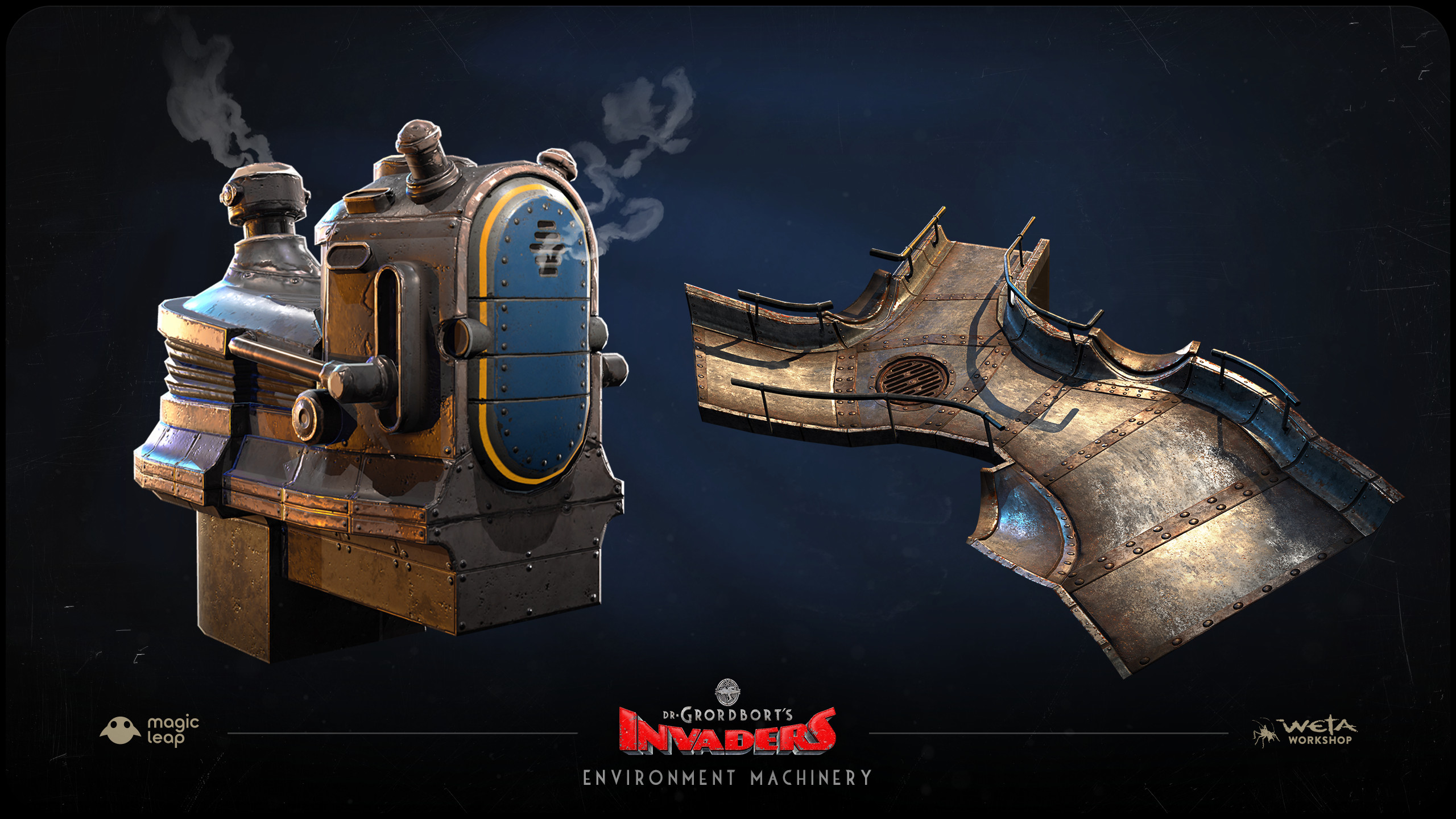 Designed by Greg Broadmore and Stephen Lambert. 3D models and Texture By Jesse Barratt