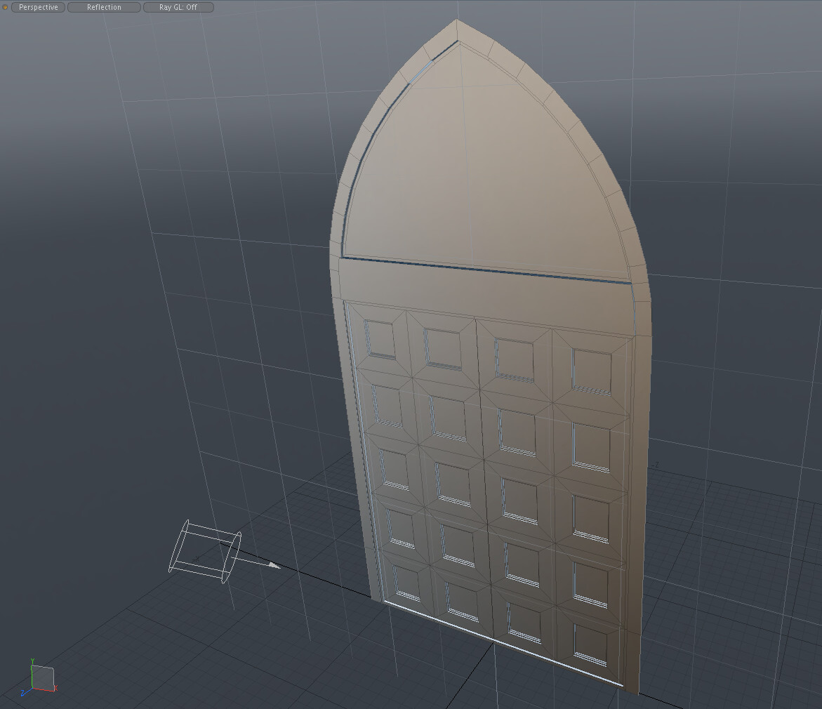Old work - entry door development modeling