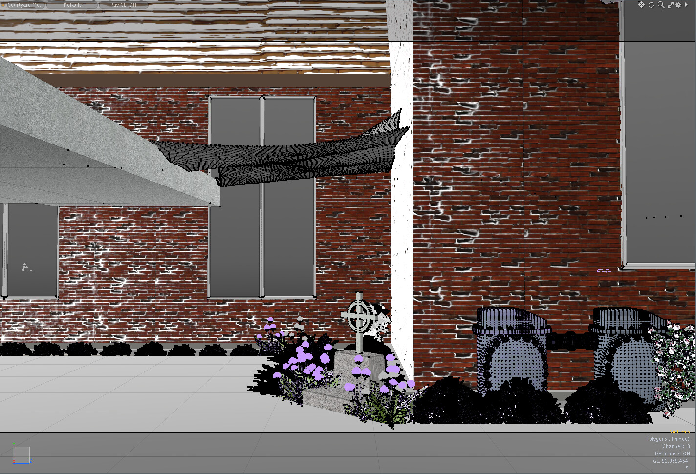 Old work - basic massing inside courtyard