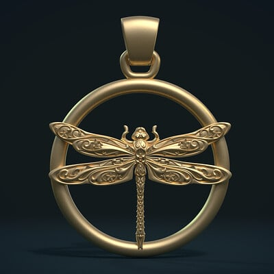 Alexander volynov dragonfly pendant g 0002