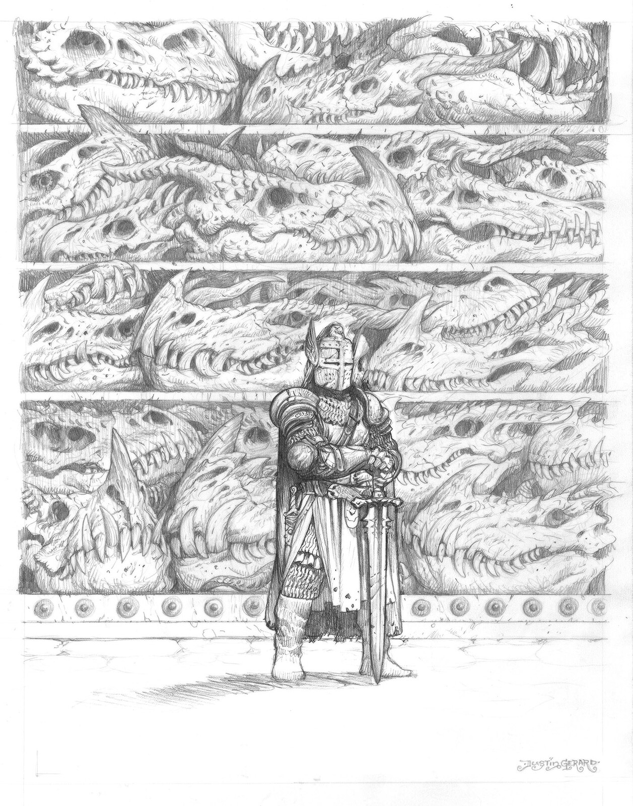 Original Drawing. 11x14, graphite on Strathmore bristol.