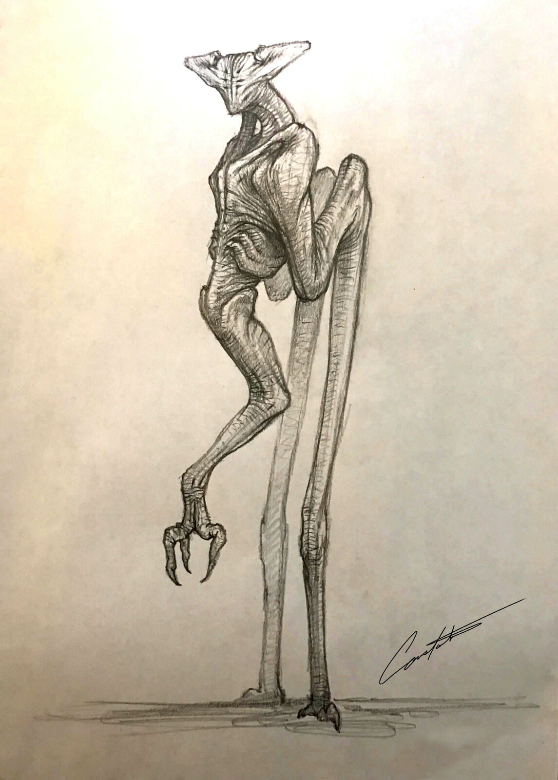alien creature sketch