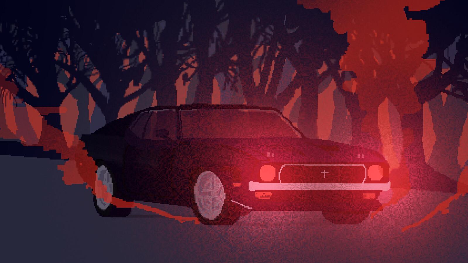 Frame from Roadkill draft trailer