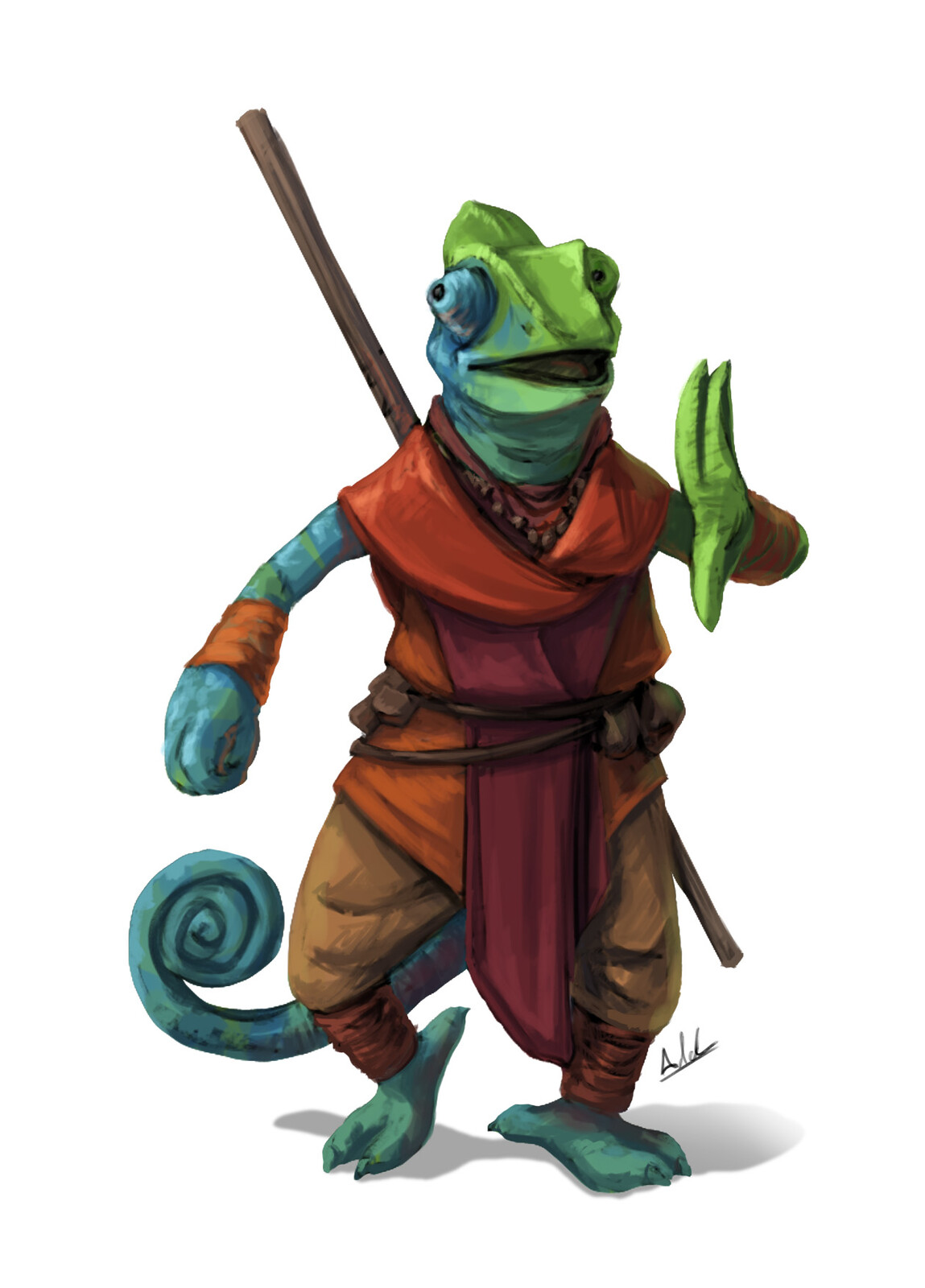 Chameleon Lizardfolk