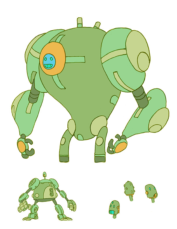 Hero Robot Design