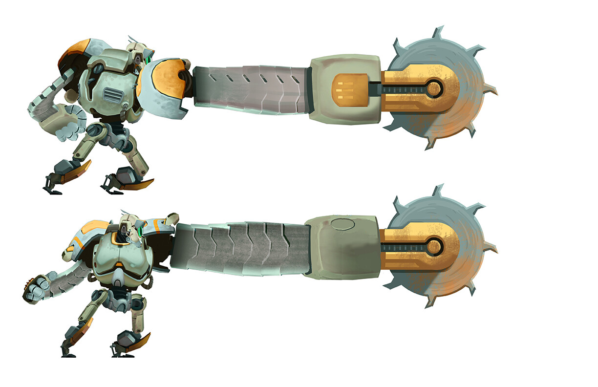 Hero Robot - Drill Attachment B (extended)