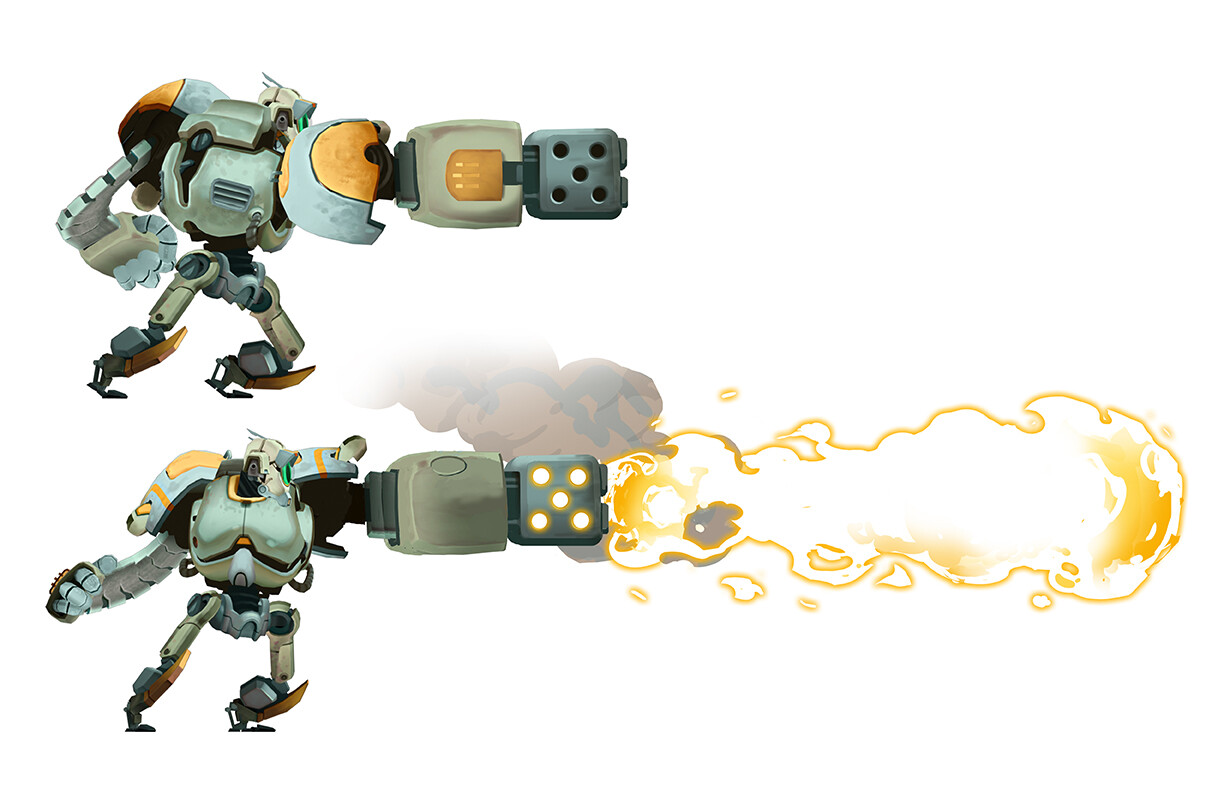 Hero Robot - Flame Attachment