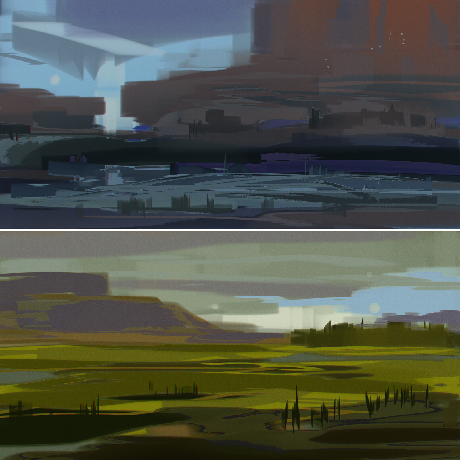 Landscapes sketches