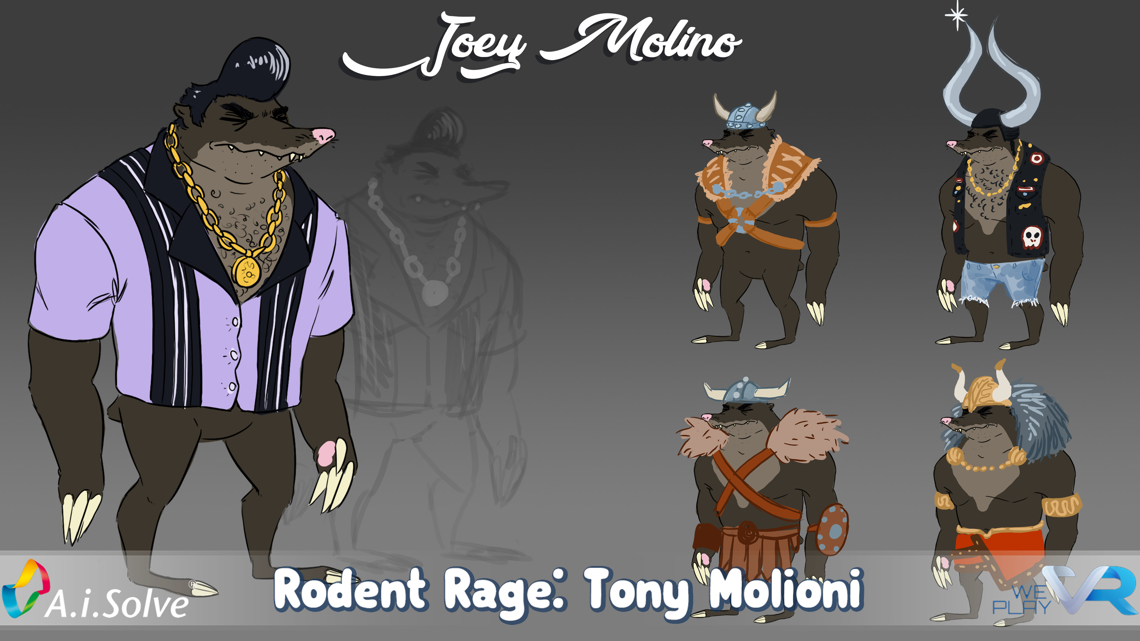Tony Molioni, final drawing and outfit options
