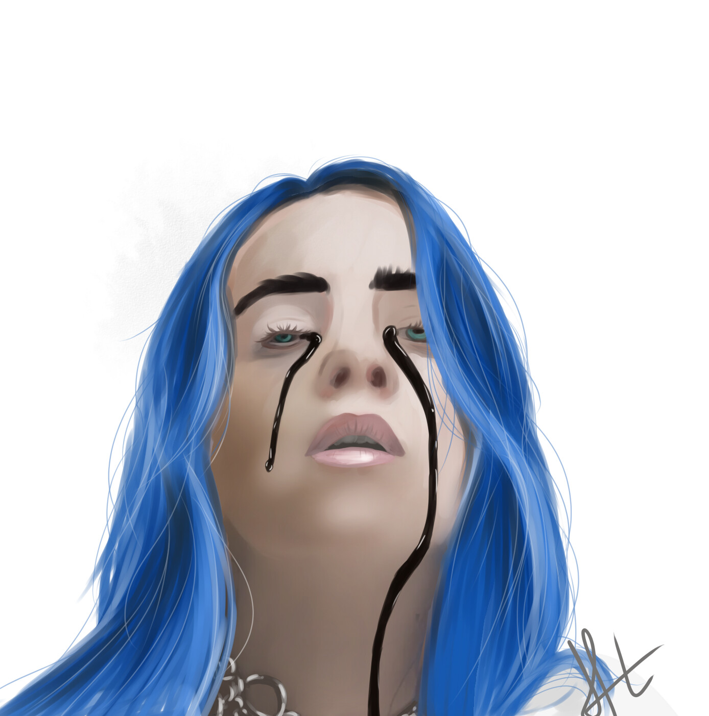 Billie Eilish Nude laurine h. - billie eilish, black tears for when's the