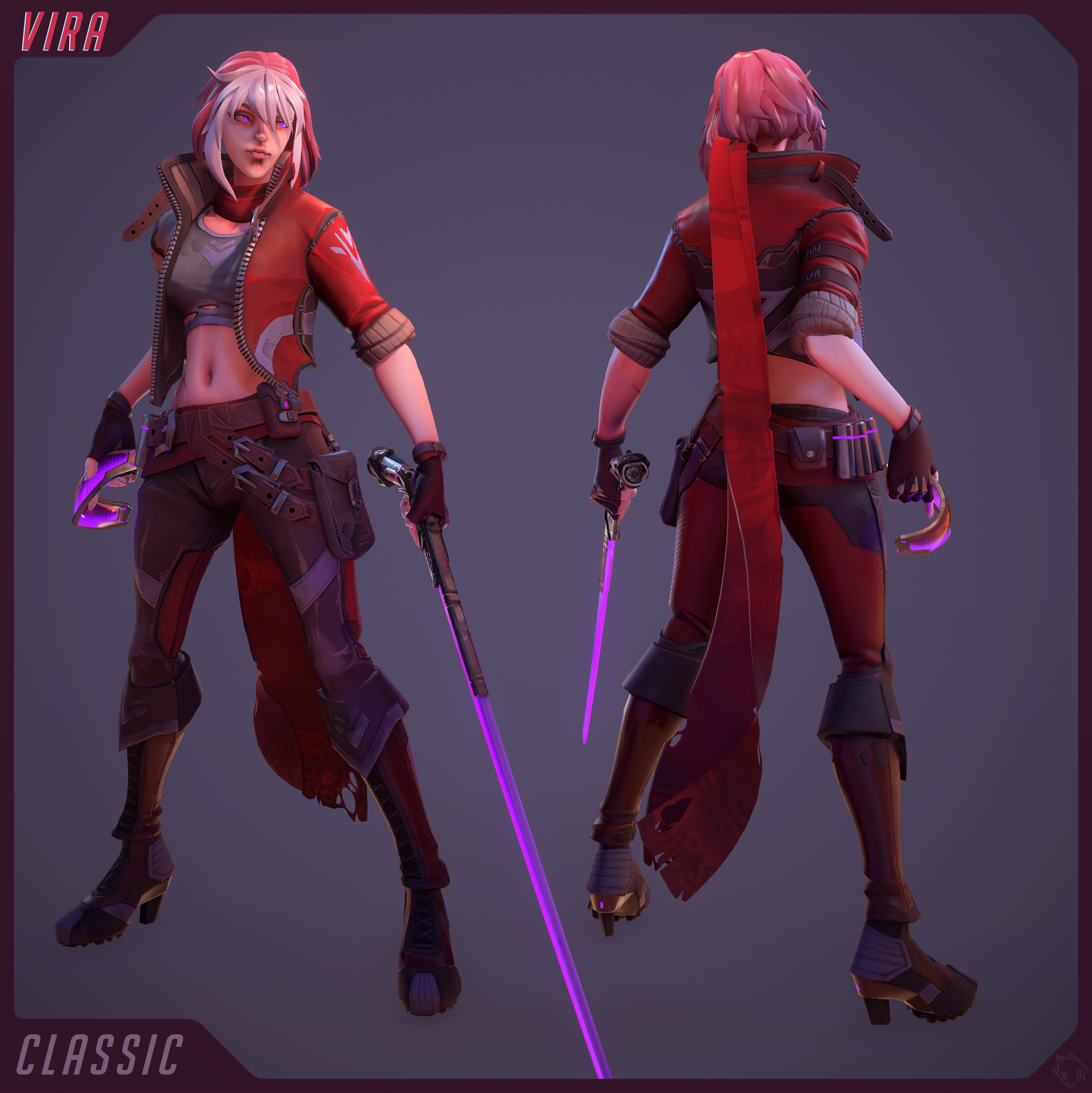 Vira (Classic Skin) - made using Akeytsu (rig/skin/pose) (but not only =P see the project's description for all details ;))