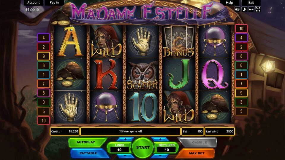Madame Estelle  - Main Screen