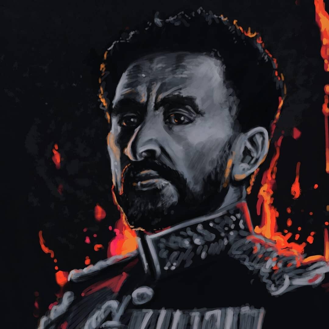 Biny Adenew - Haile Selassie portrait