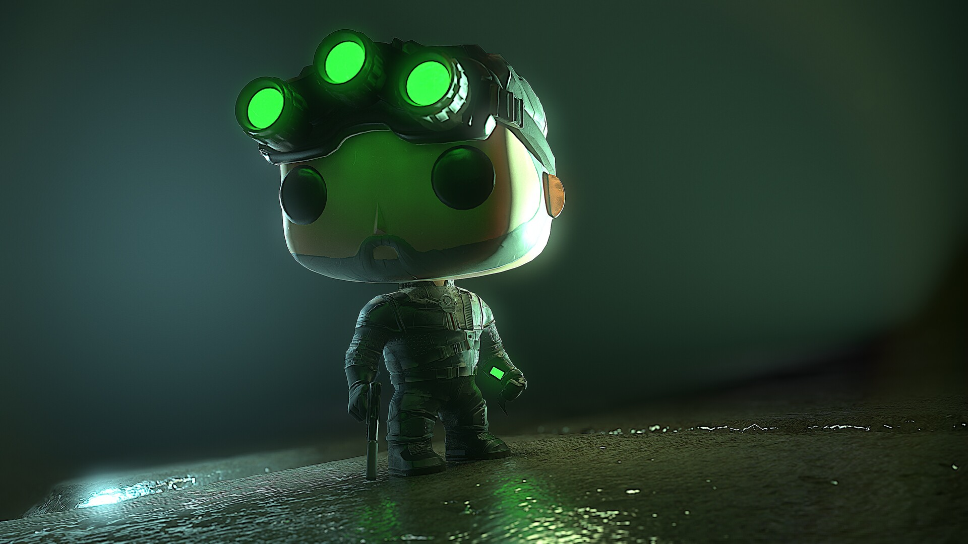 Artstation Splinter Cell Funko Pop Tomasz Libisz