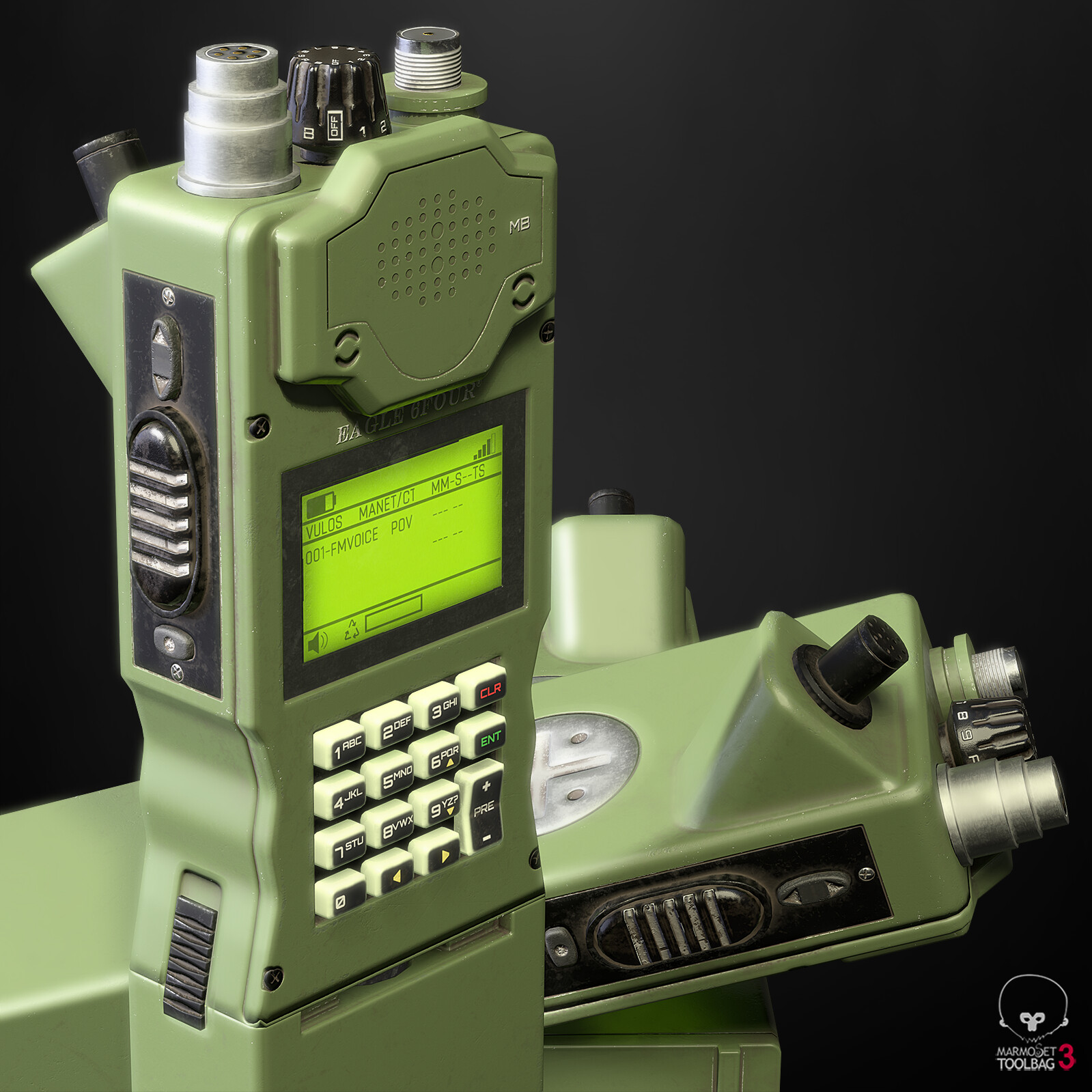 ArtStation - Handheld Military Radio, Joey Harris