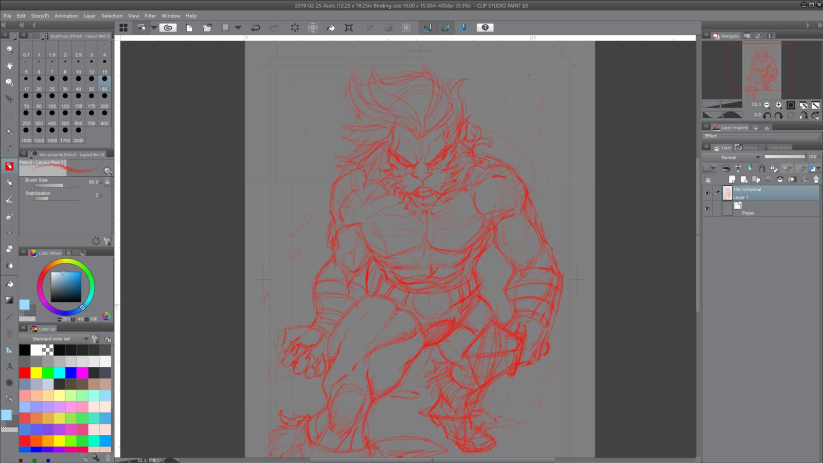 01- Rough concept sketch