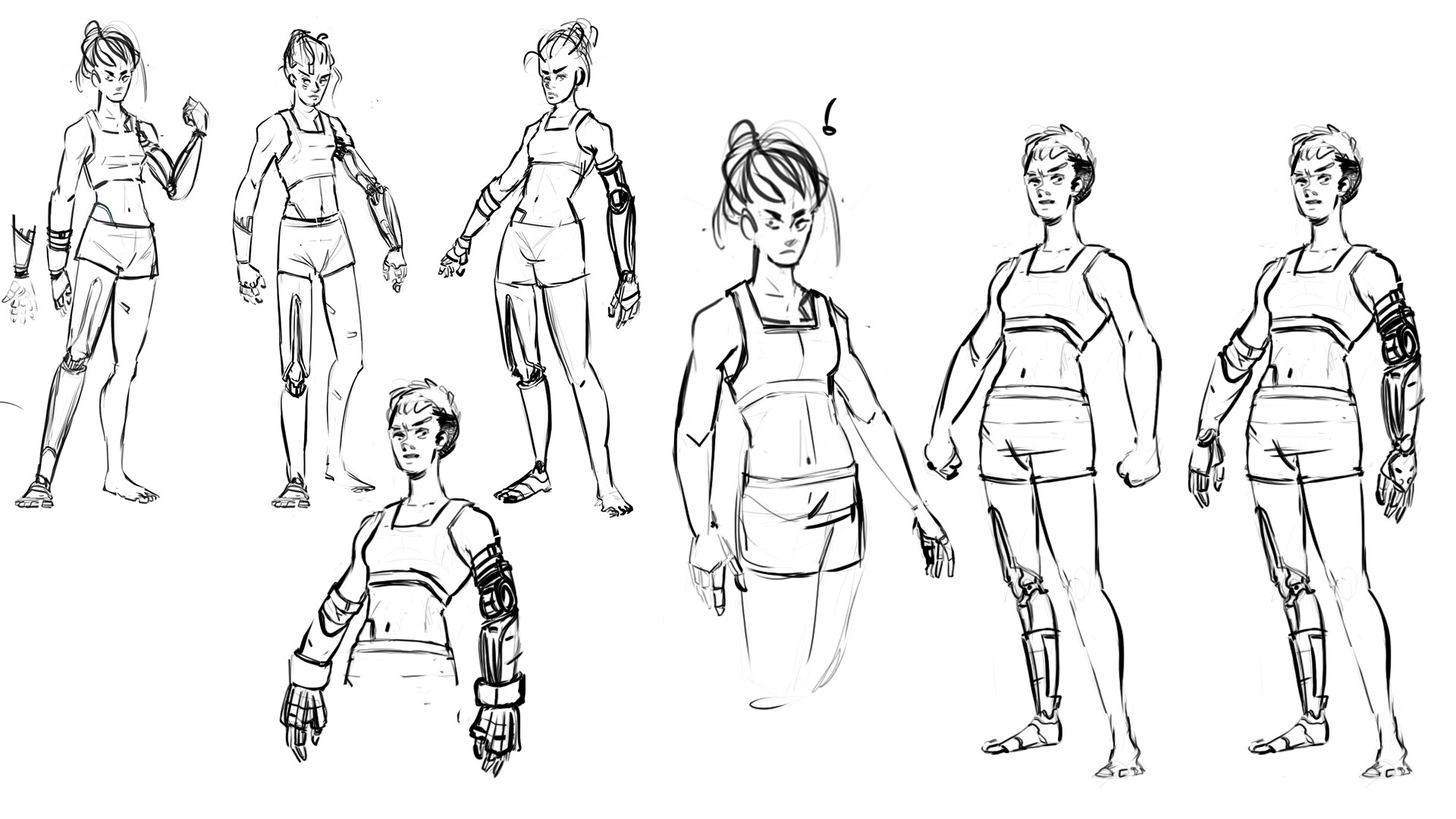 Ramasses romero first sketches