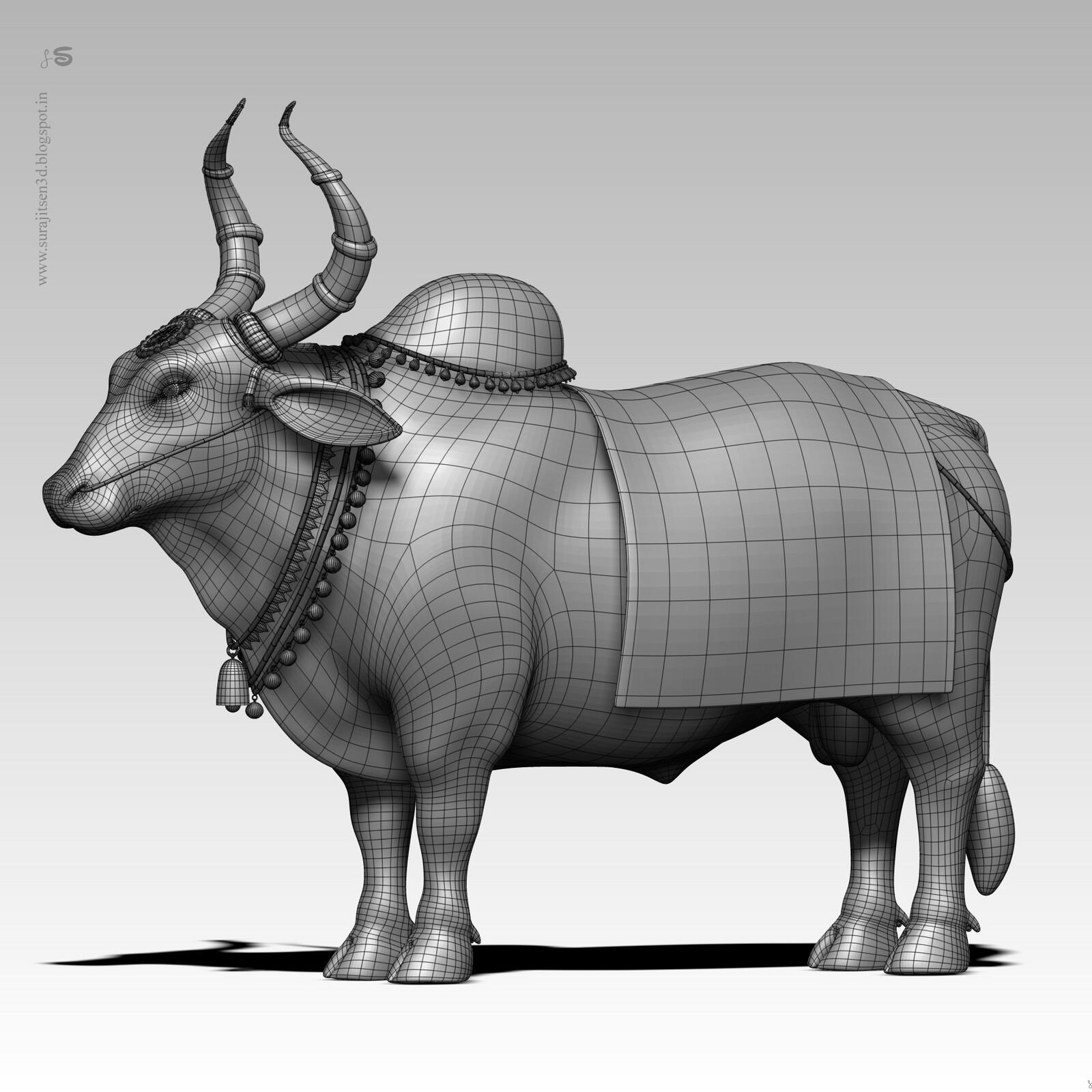 One of my old study. ...Nandi the Bull. ..