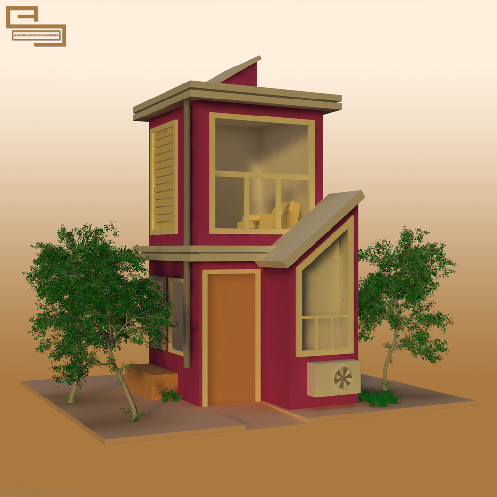 Aishik Sarkar Simple House 3d Model