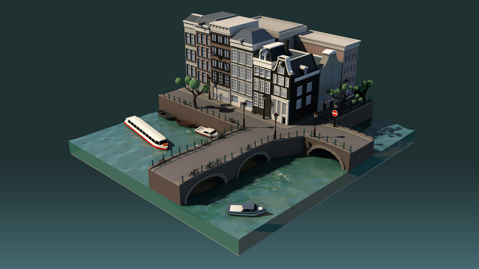 Low Poly Amsterdam