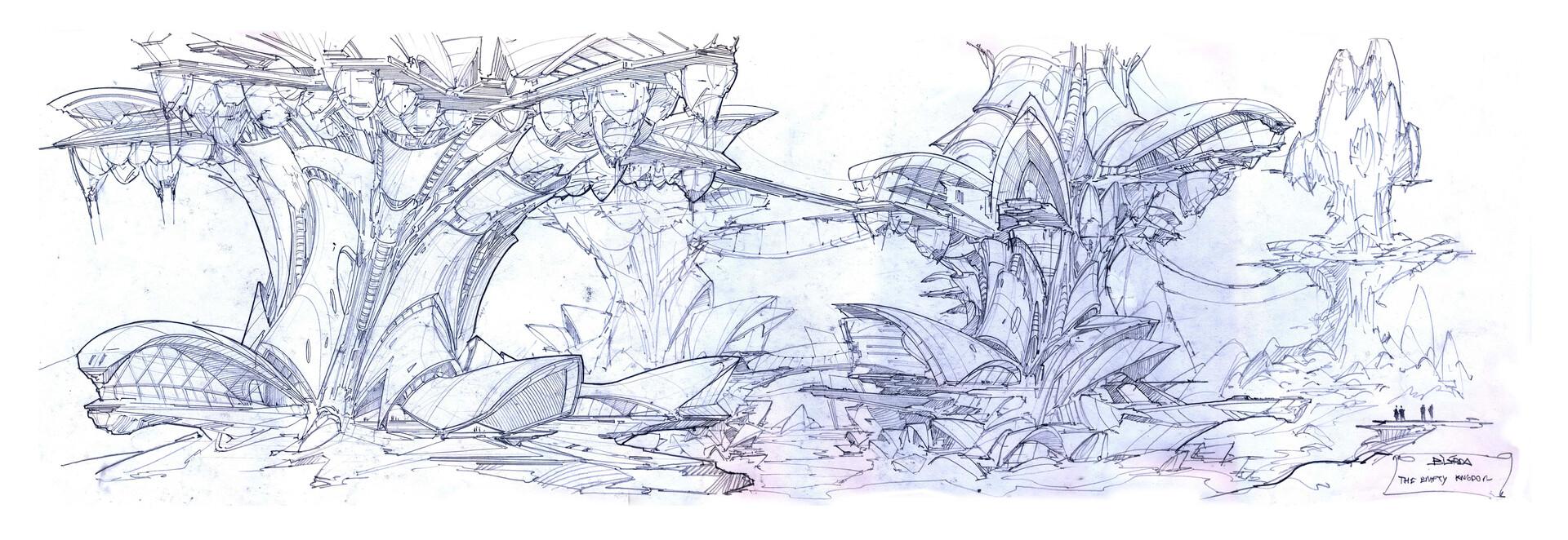 Alejandro burdisio bocetos the empty kingdom arcadia3