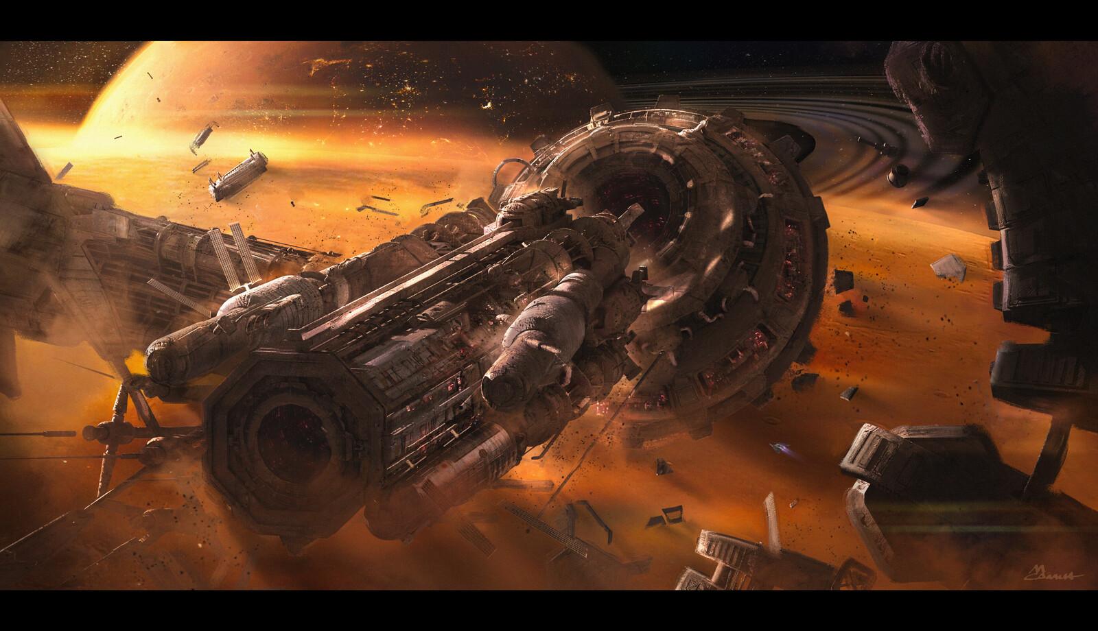 Derelict Space Station