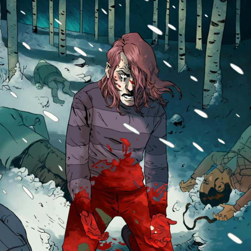 Comic Coloring Sample Pages from SHELTERED.