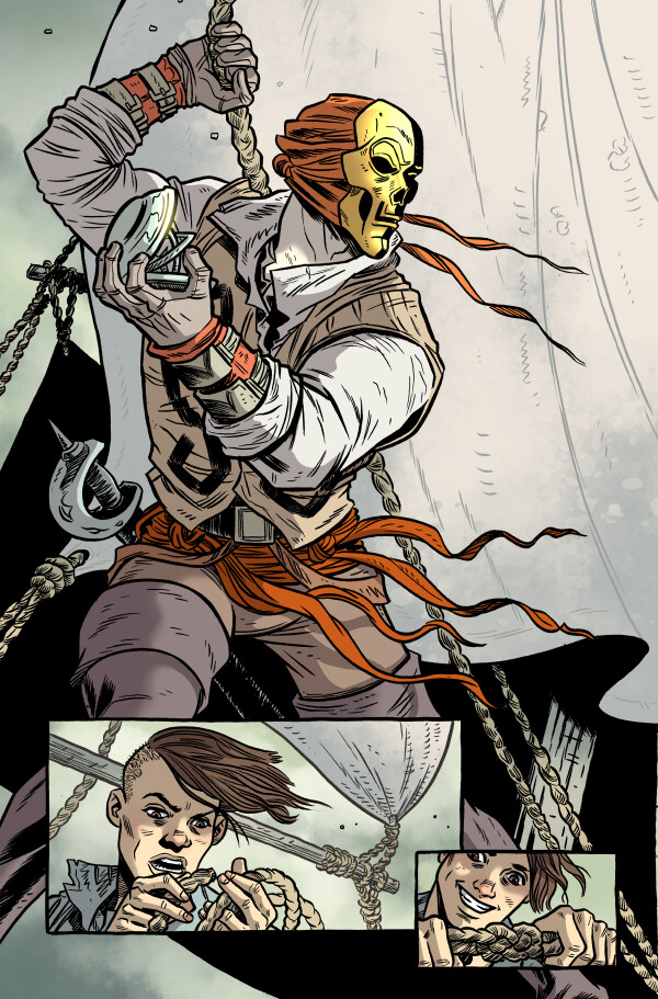 Comic Coloring Sample Pages from KILL SHAKESPEARE