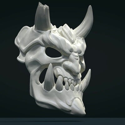 Alexander volynov demon mask 2 3d model obj mtl fbx stl blend