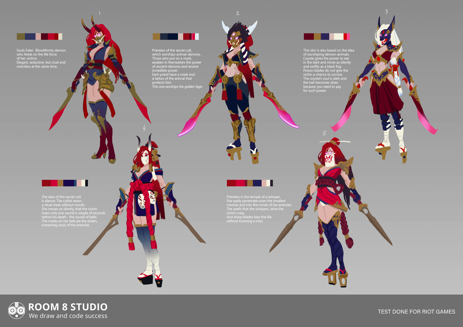 Room 8 studio room8 riot games lol katarina skin bloodmoon portfolio 2