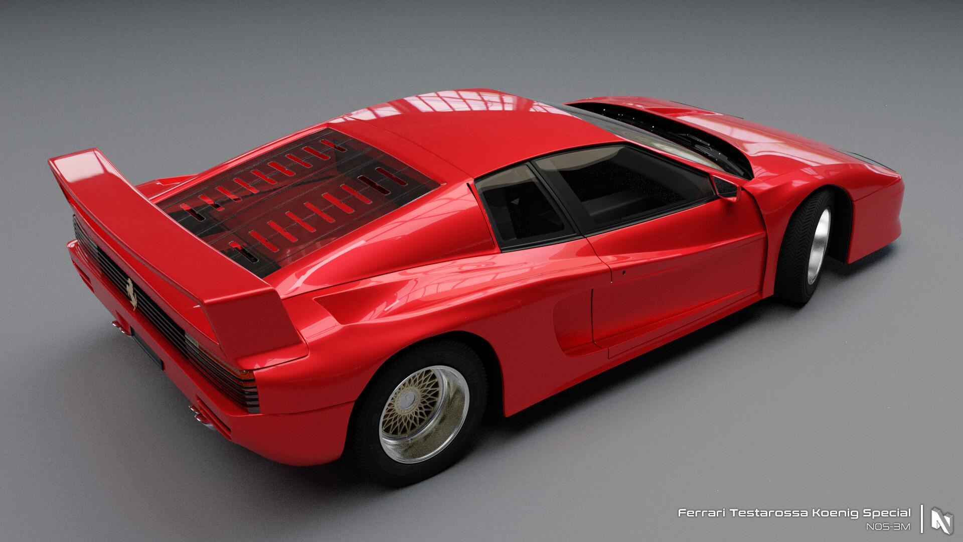 Artstation Ferrari Testarossa Koneig Special Nikunj Bhatia