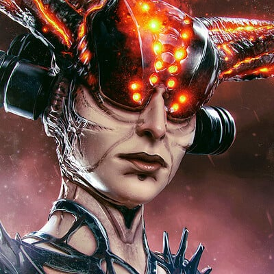 Marius siergiejew biomechanical demoness by noistromo x1280