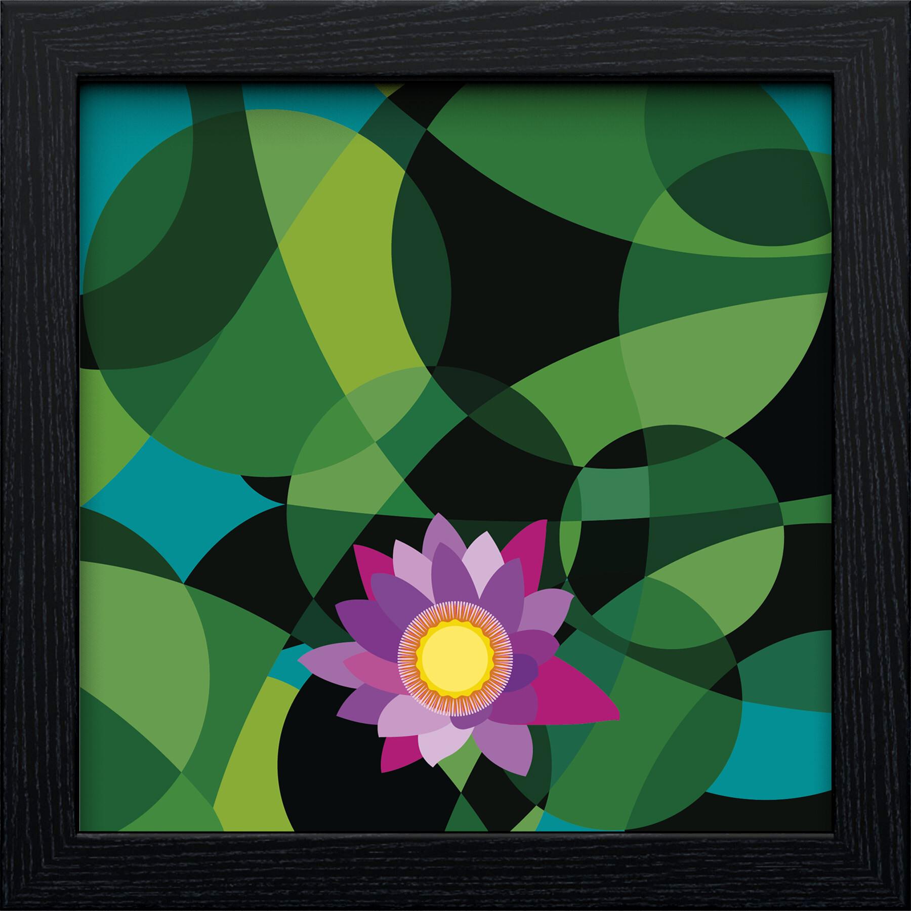 Rajesh r sawant lotus black square frame