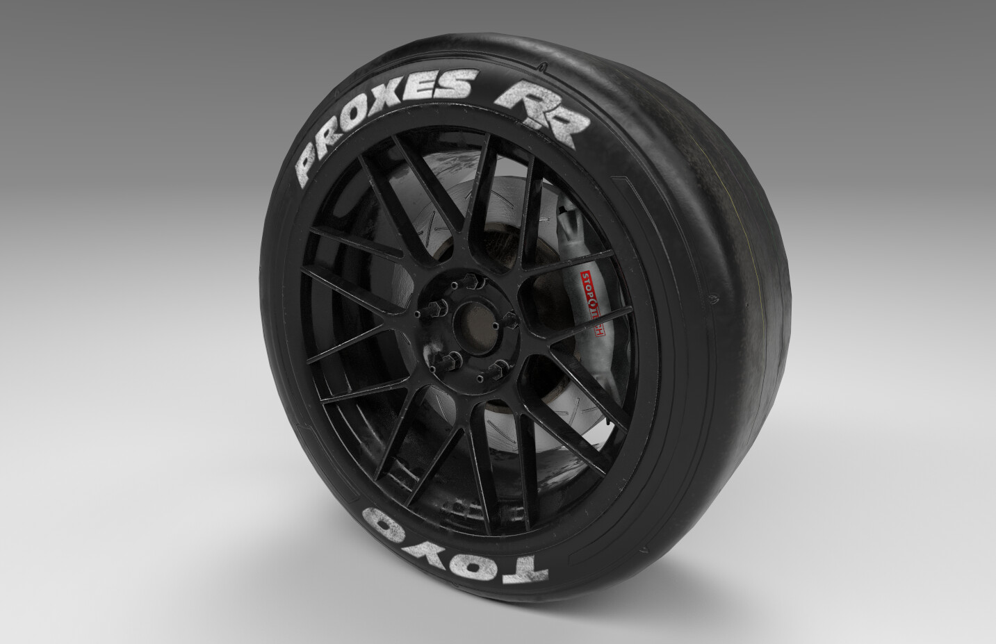 Race wheel and tire