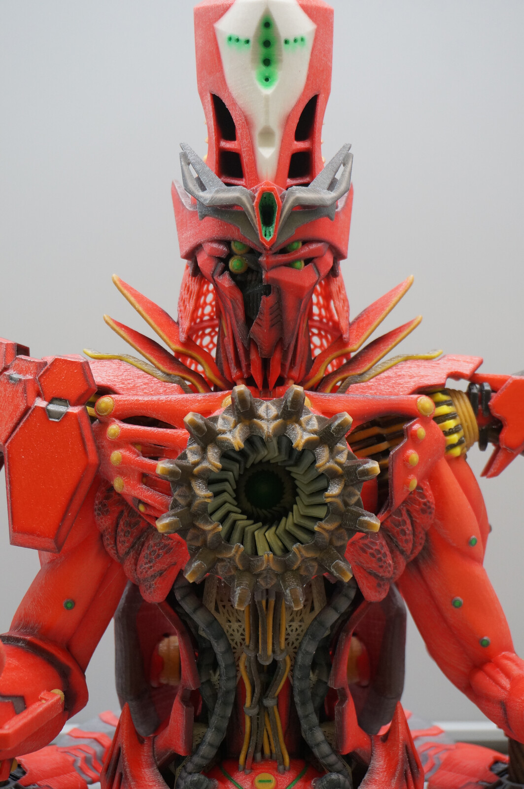 """Return of the Machine God""(Red Warrior ver. 3D printed)"