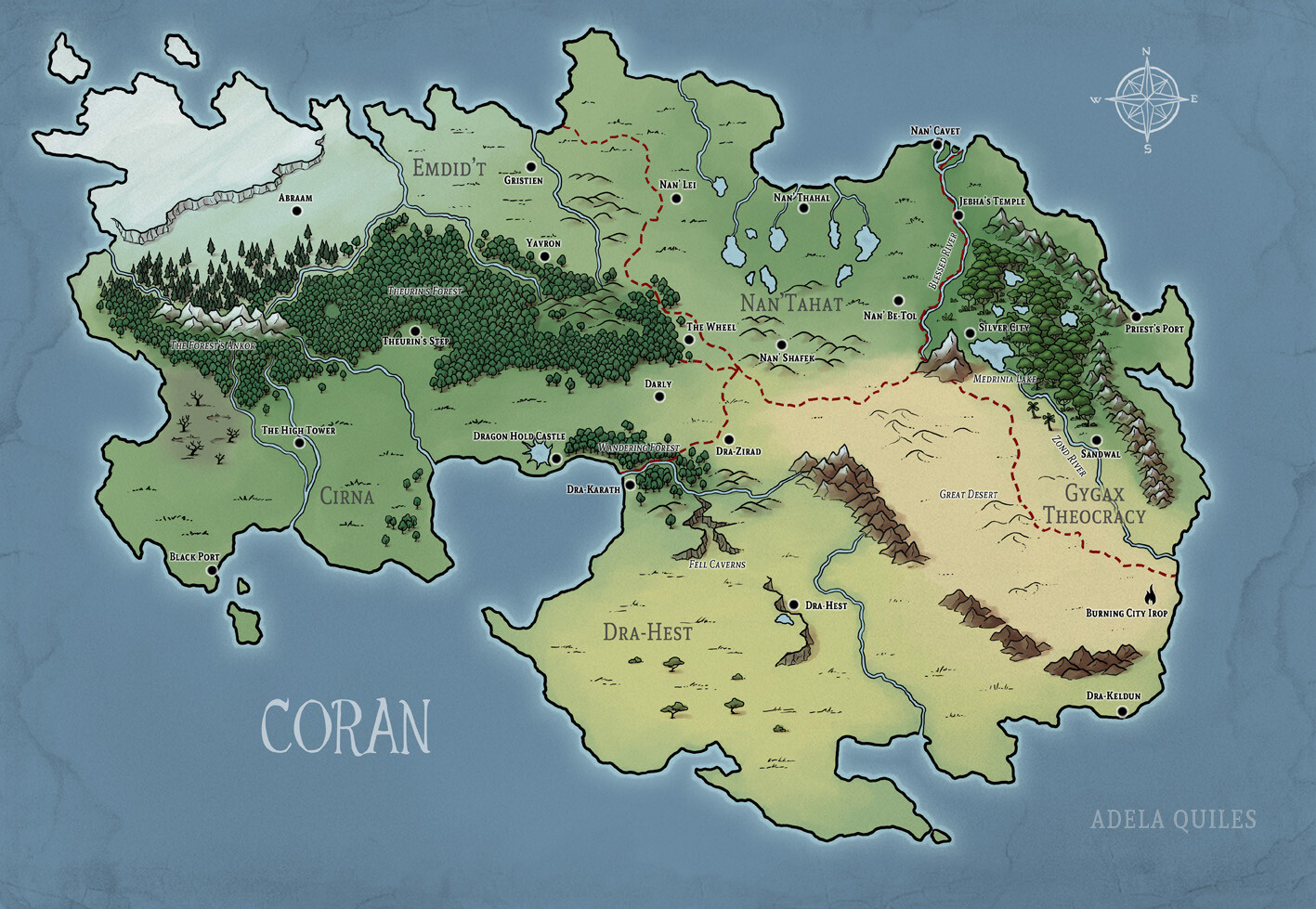 Coran -  commissioned map