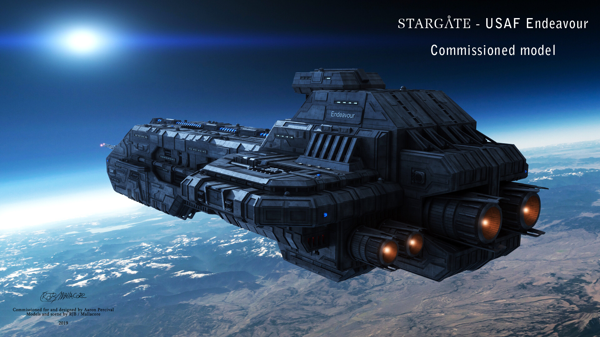 Ryan Begemann - Commissioned Project - USAF Endeavour (stargate)
