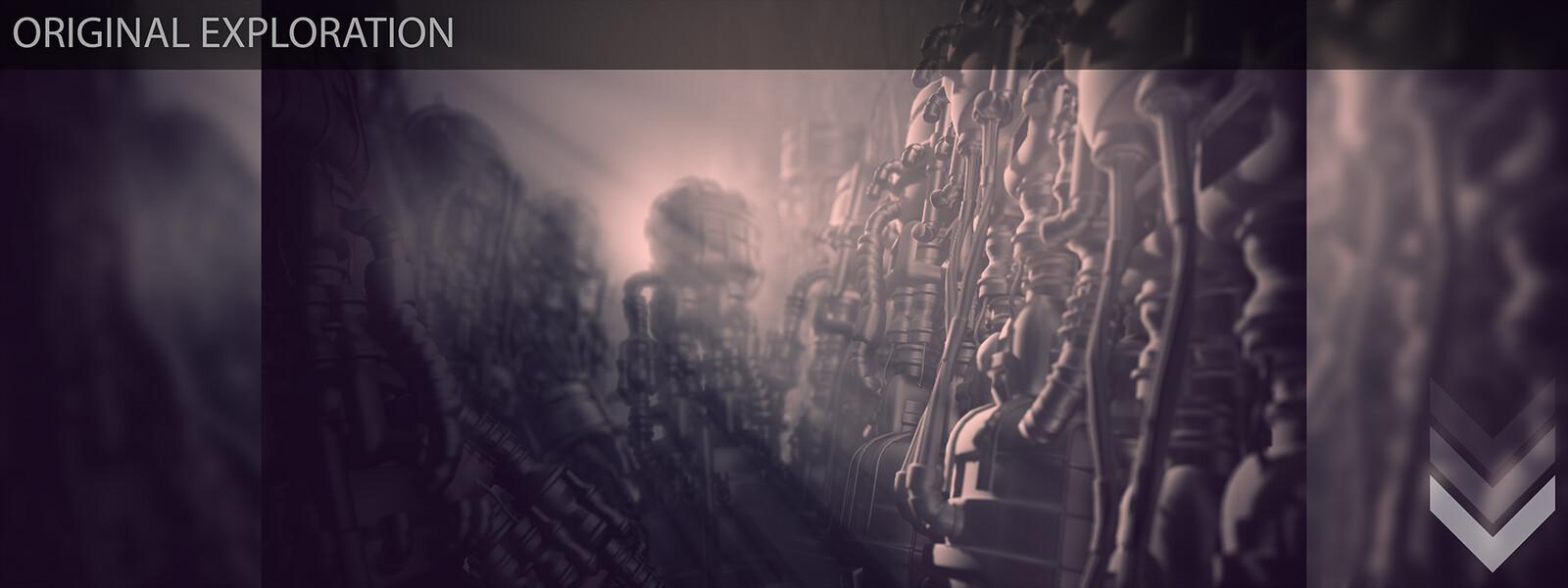Amaru - Progression shots from original exploration to near final composition/lighting. 1 of 4
