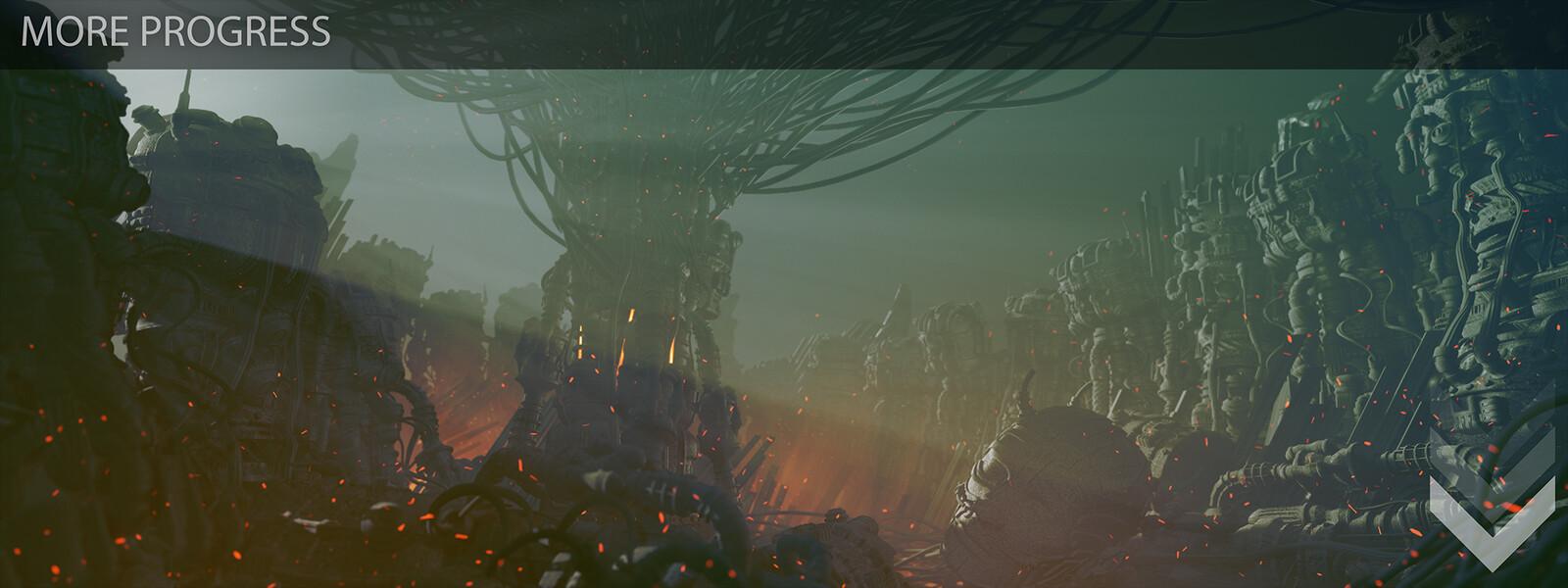 Amaru - Progression shots from original exploration to near final composition/lighting. 3 of 4