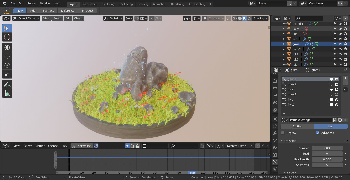 ArtStation - Blender EEVEE - RealTime particles, Ness Lab