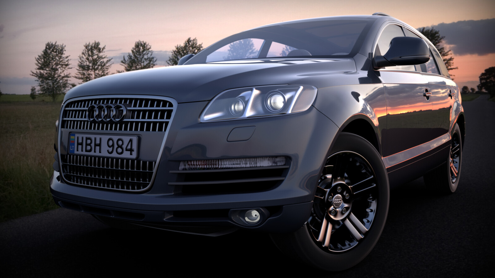 Re rendering old work, Audi Q7 SubD