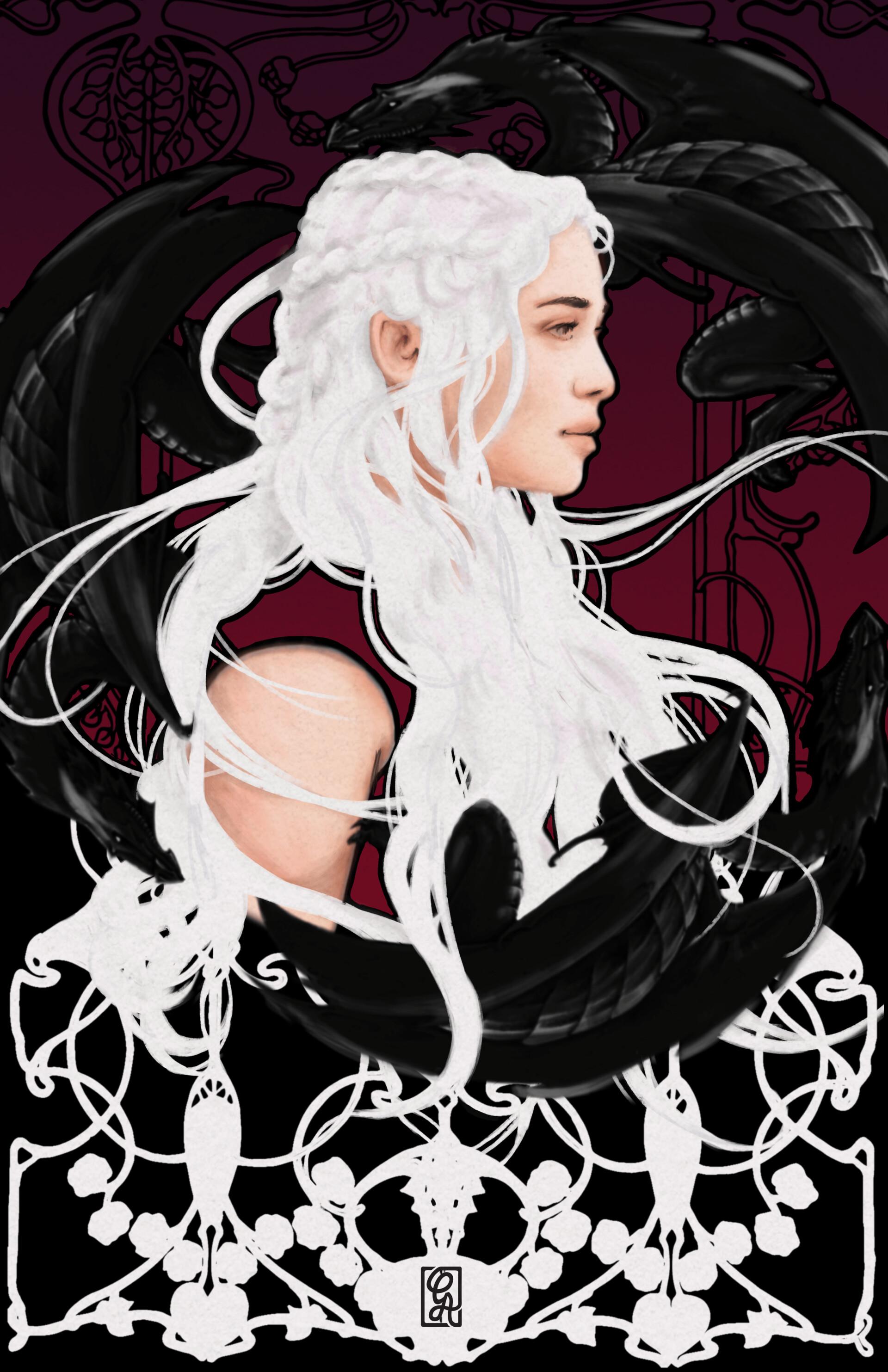 Daenerys Targaryen in Art Nouveau