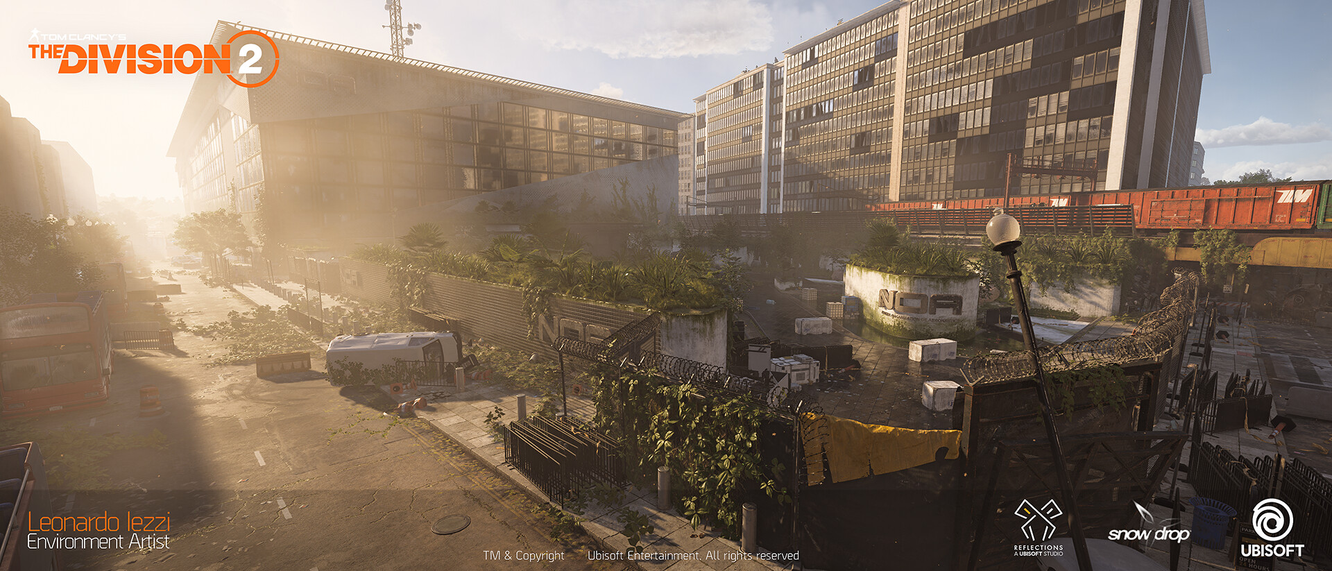 Leonardo iezzi leonardo iezzi the division 2 environment art 01 plaza 012 wide